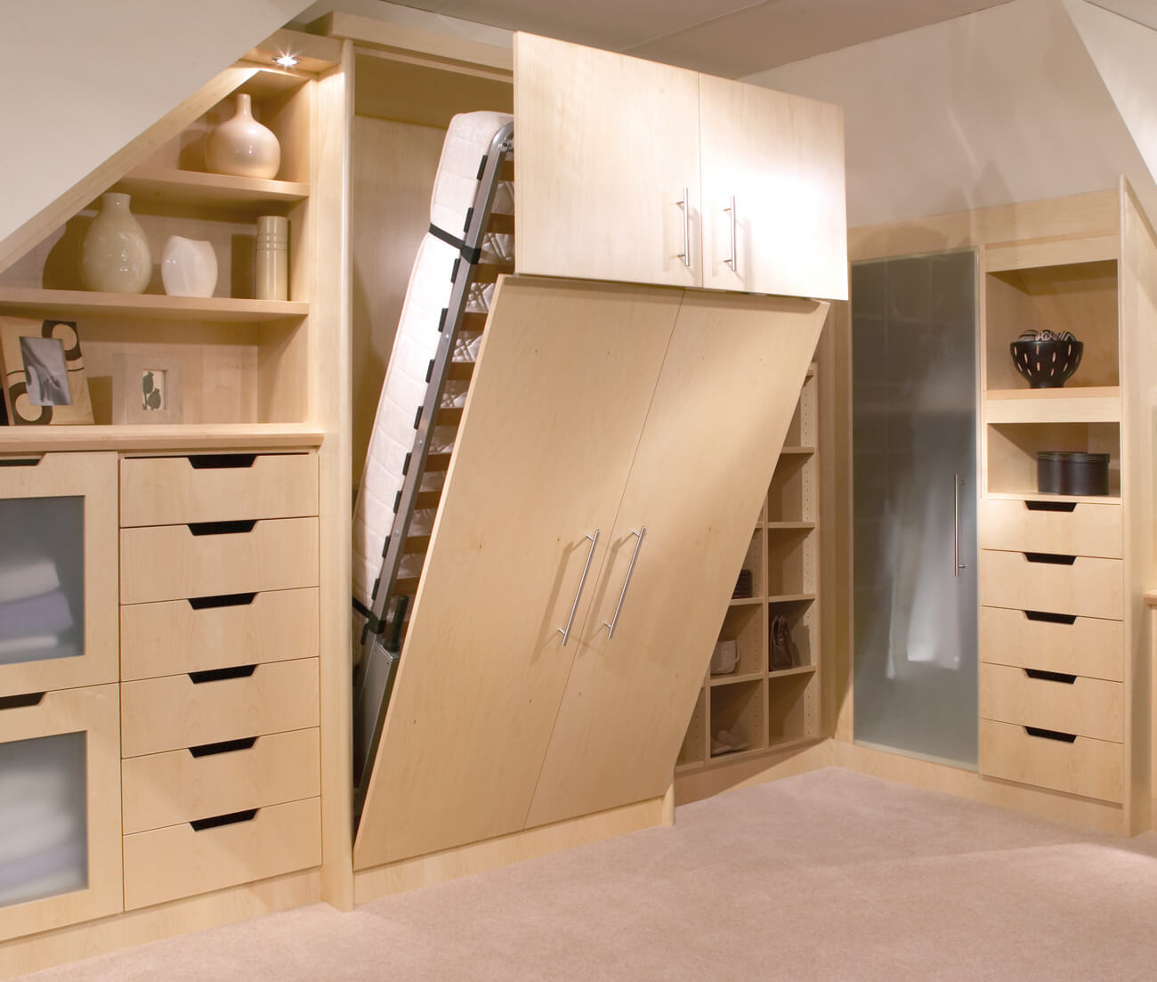 Picture of: Pull Down Bed With Storage Uk Fold Down Wall Bed Neville Johnson