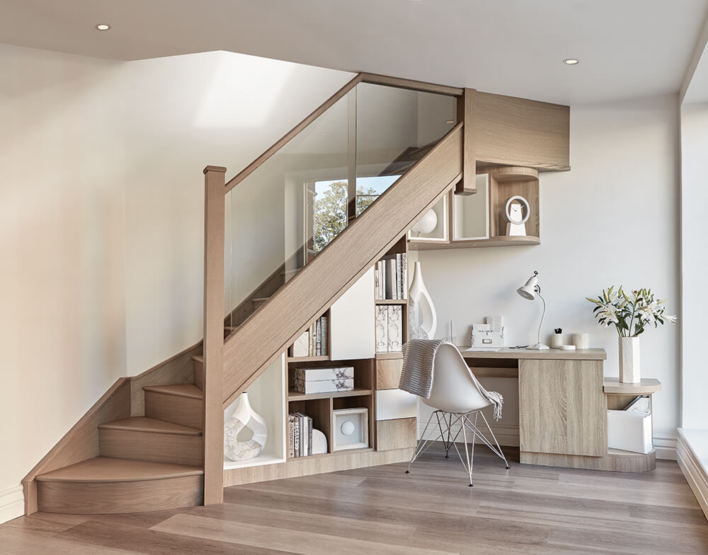 home office understairs