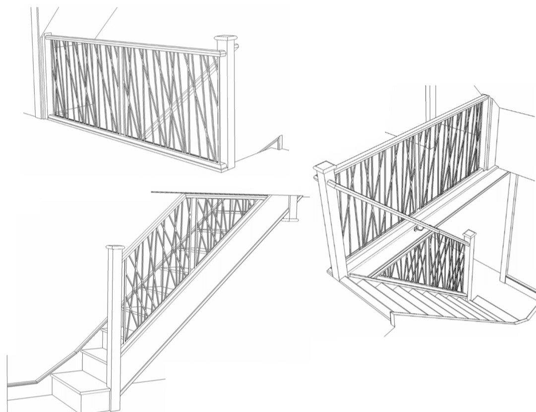 Opus staircase CAD drawings