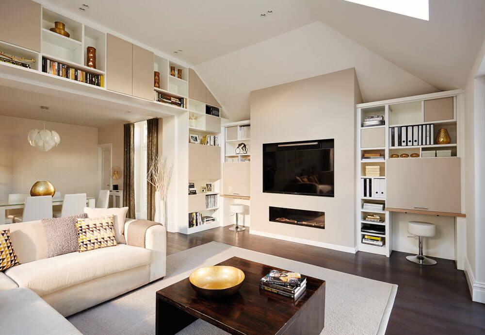 contemporary open plan lounge