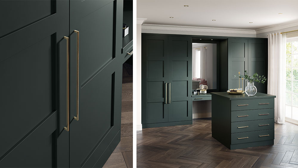 Go Green with this Bespoke Dressing Room