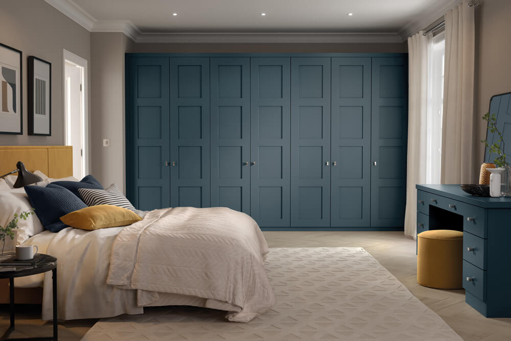 Blue Fitted Wardrobes