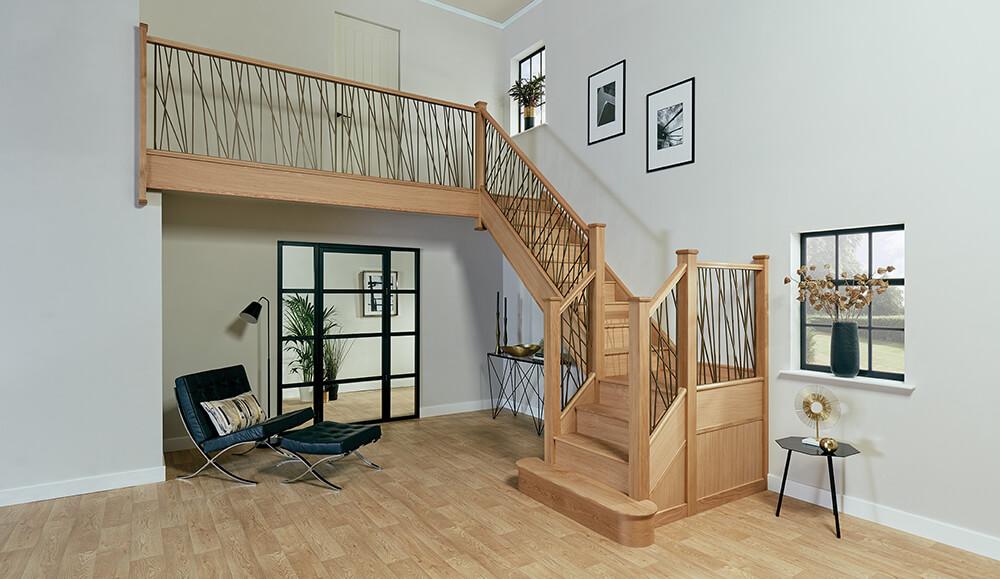 Antique Brass Opus Staircase Design