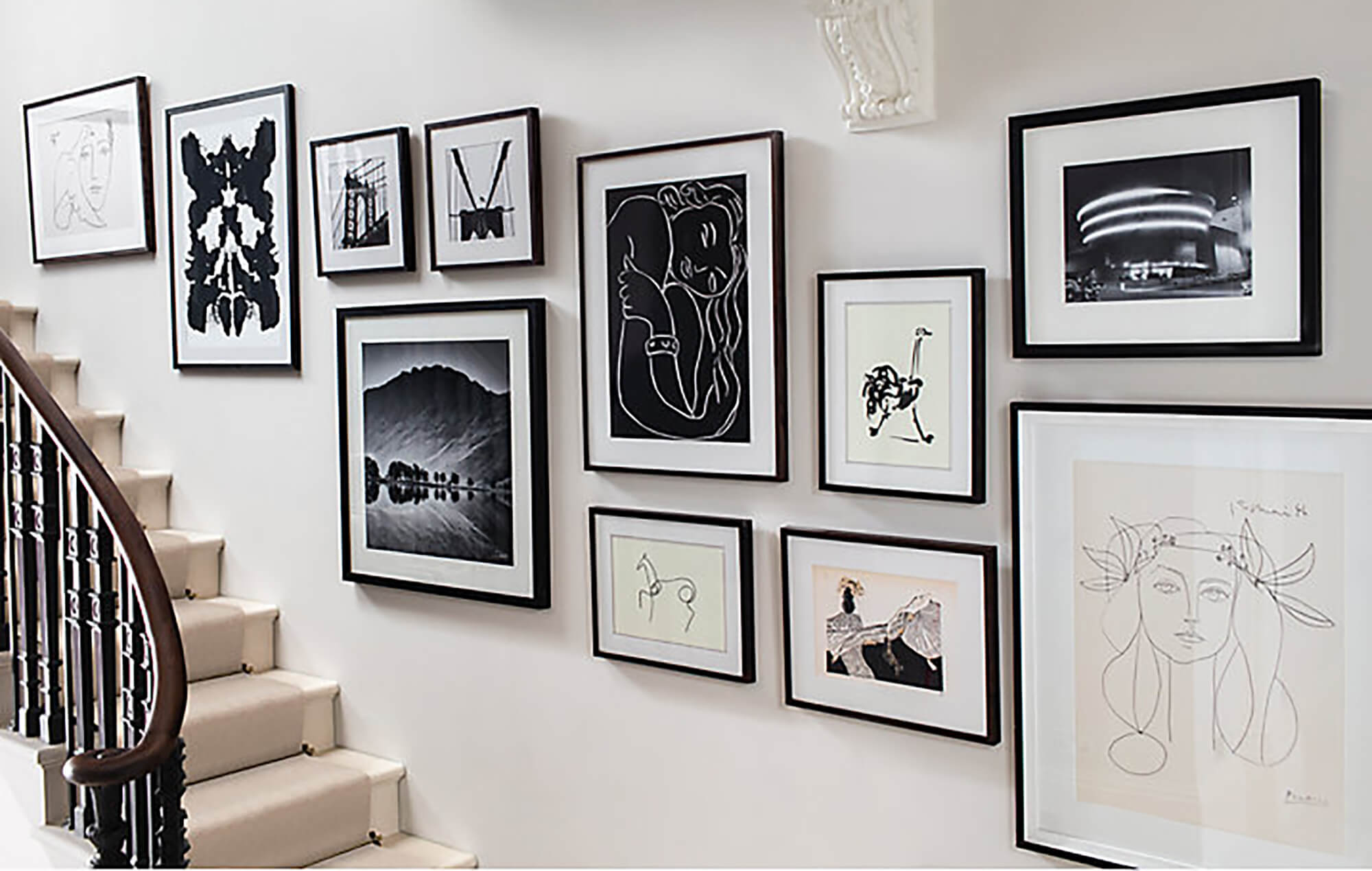 Simple picture hanging solutions for hallways - Neville Johnson