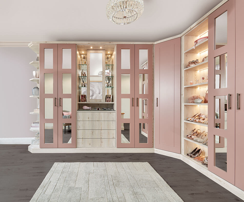 Pink Fitted Wardrobe
