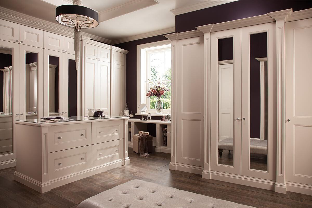 White Dressing Room Bespoke Wardrobe Neville Johnson
