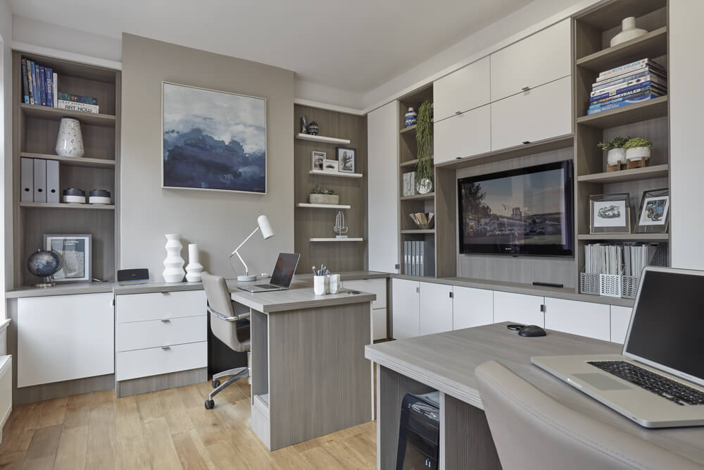 Modern Home Office - storage and shelving solutions