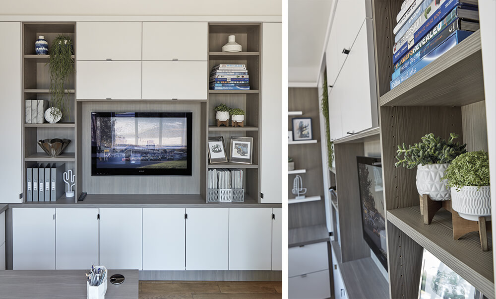 Modern Home Office - wall mounted TV