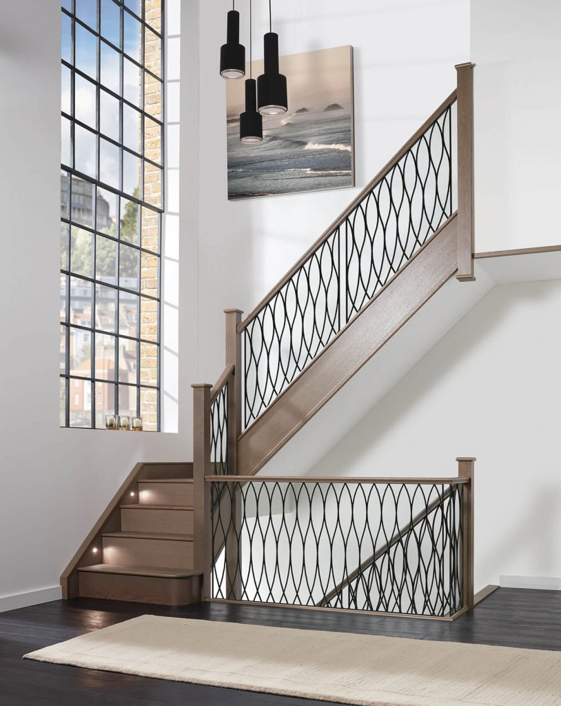modern steel staircase