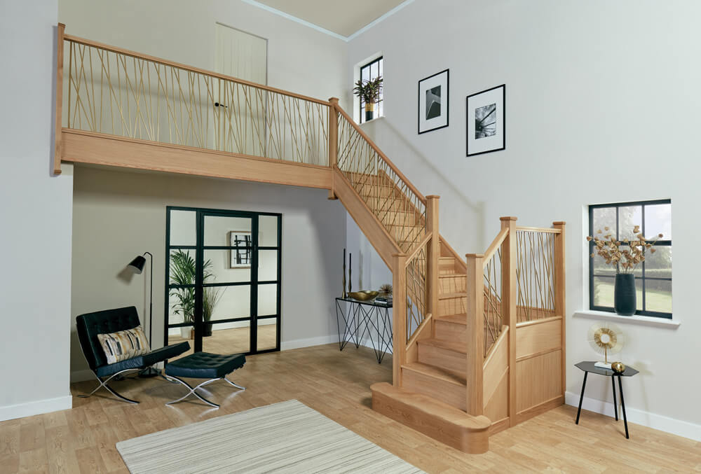 Opus Gold Finish Staircase