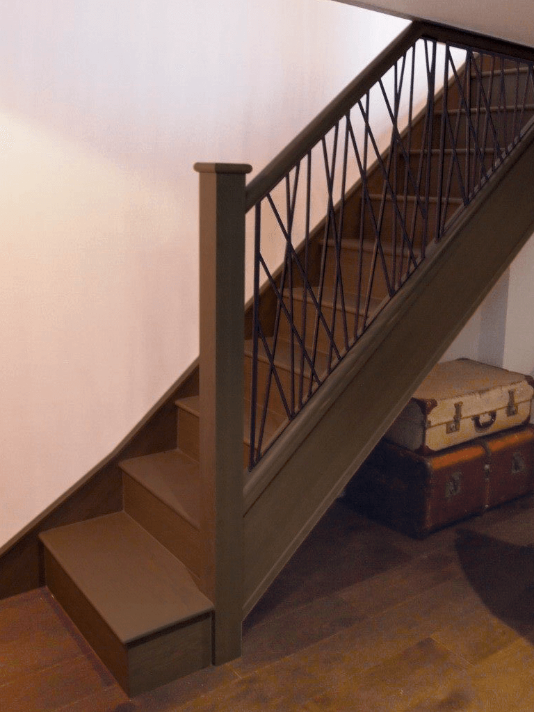 industrial staircase after renovation