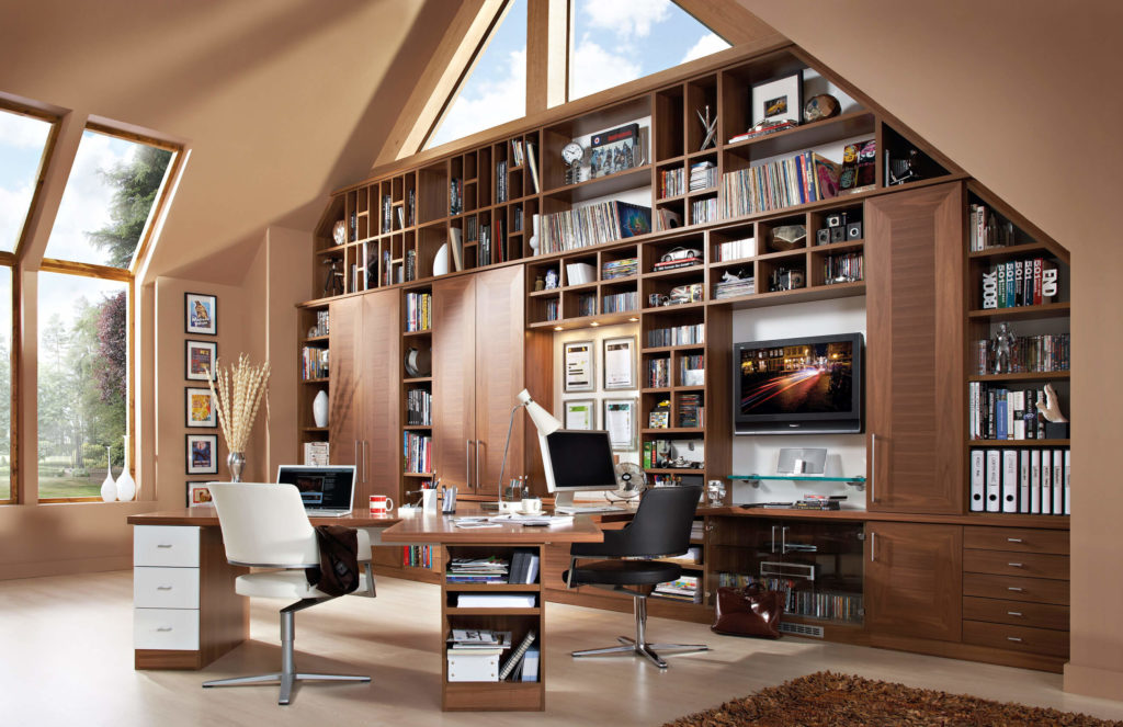 bespoke home office. this bespoke office design features avalon doors neville johnsonu0027s exclusive shown here in contemporary walnut and white home