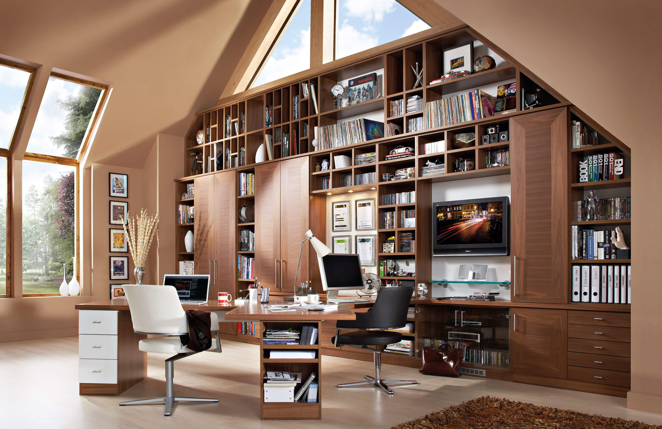 avalon home office neville johnson. Black Bedroom Furniture Sets. Home Design Ideas