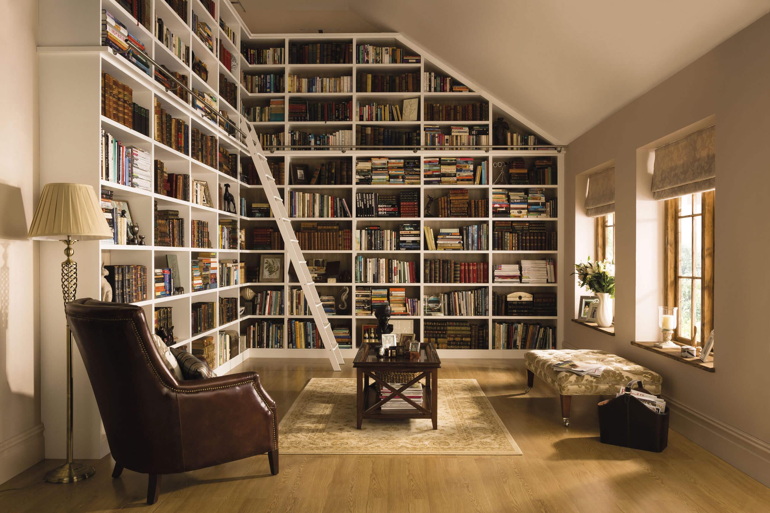 Classic White Library Neville Johnson