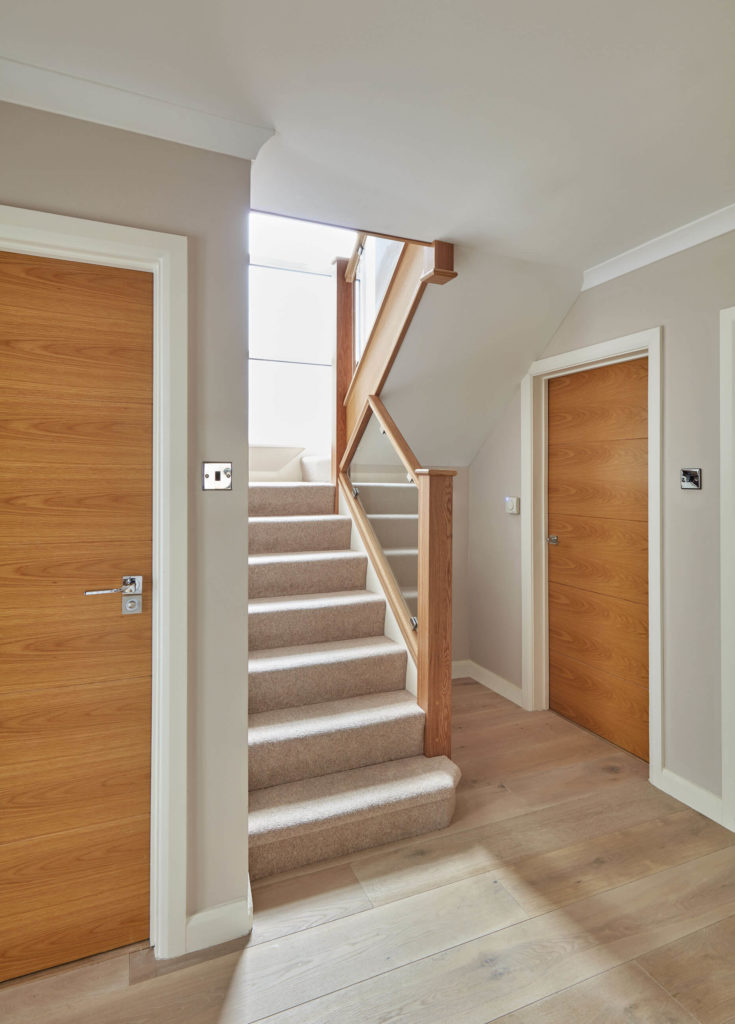 This Compact Staircase Design Combines Clear Glass Panelling With Natural  Oak Newels And Handrails For A Modern Twist On A Classic Look.