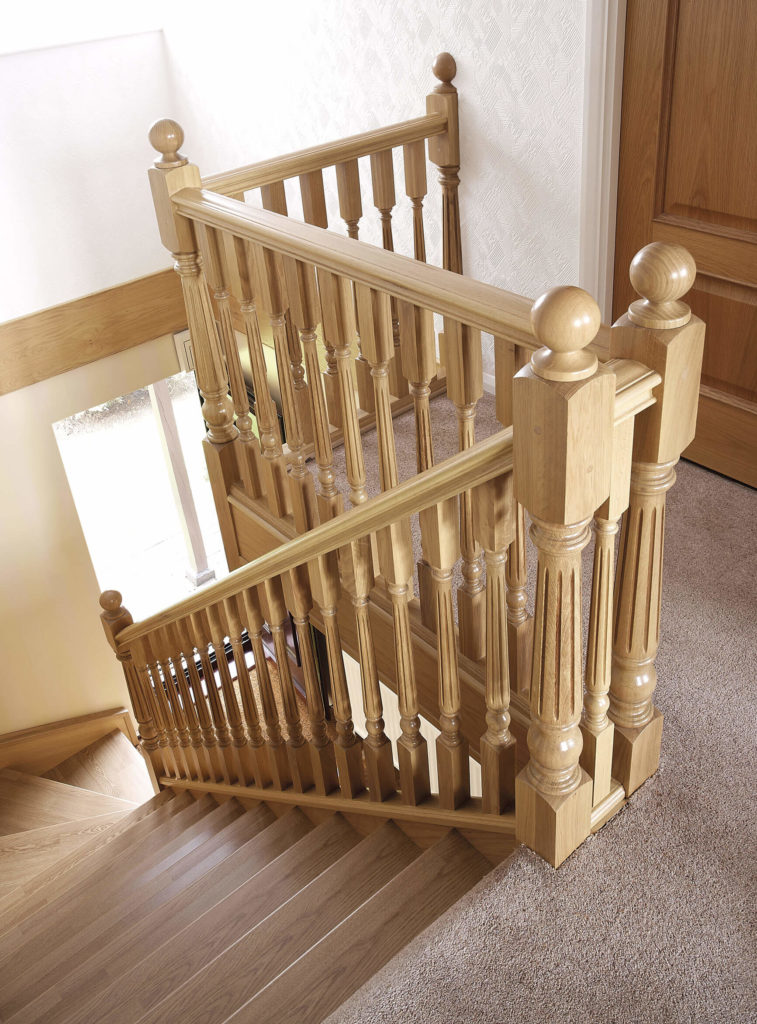 This Tasteful Oak Staircase Has Fluted Spindles And Newels That Ensure The  Staircase Has A Timeless Look.