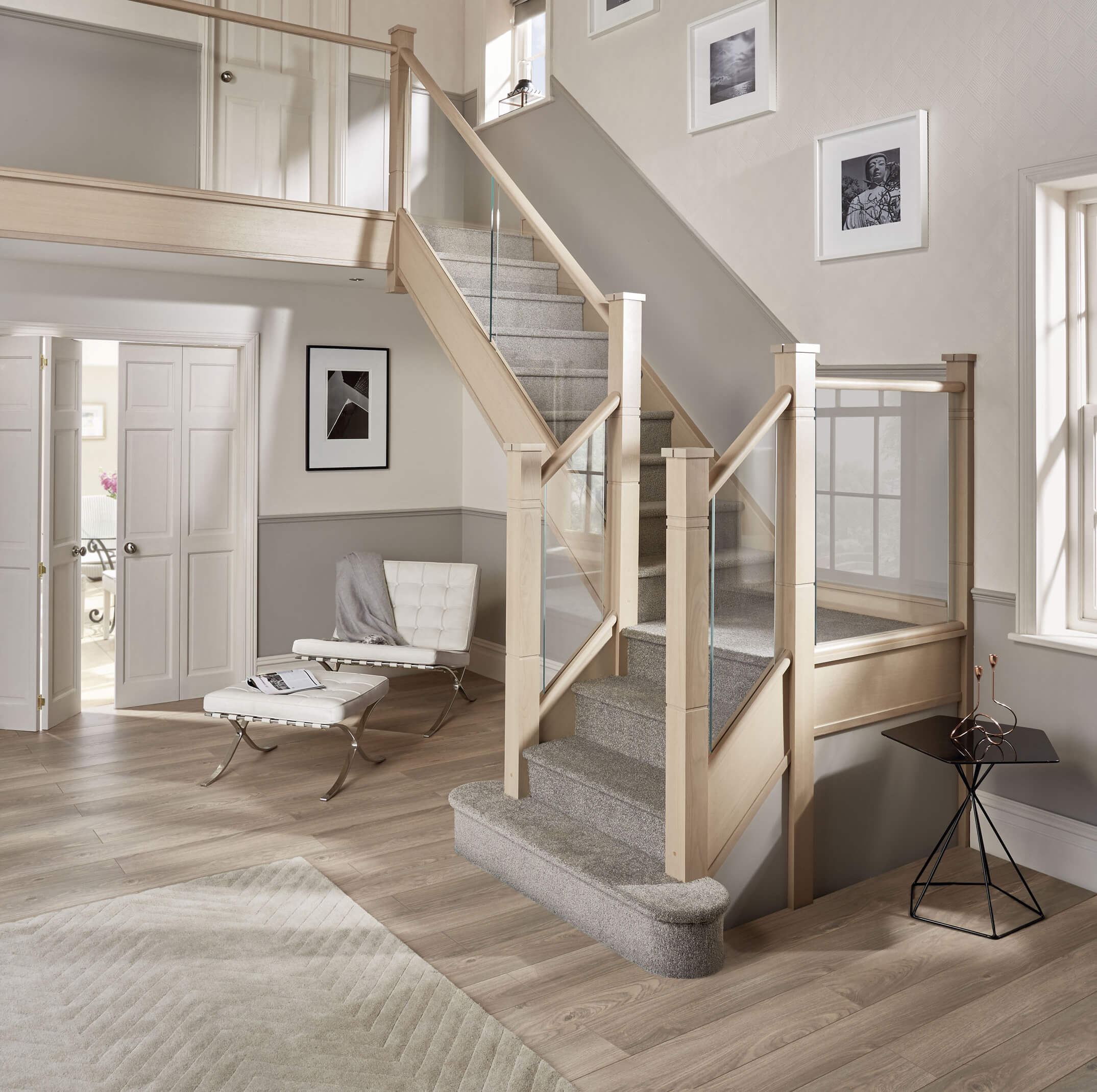 Staircase Decorating Ideas With Modern Design: Contemporary Glass Staircase Design