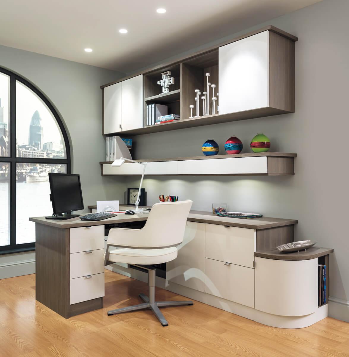 Bespoke Grey Home Office Furniture UK  Neville Johnson