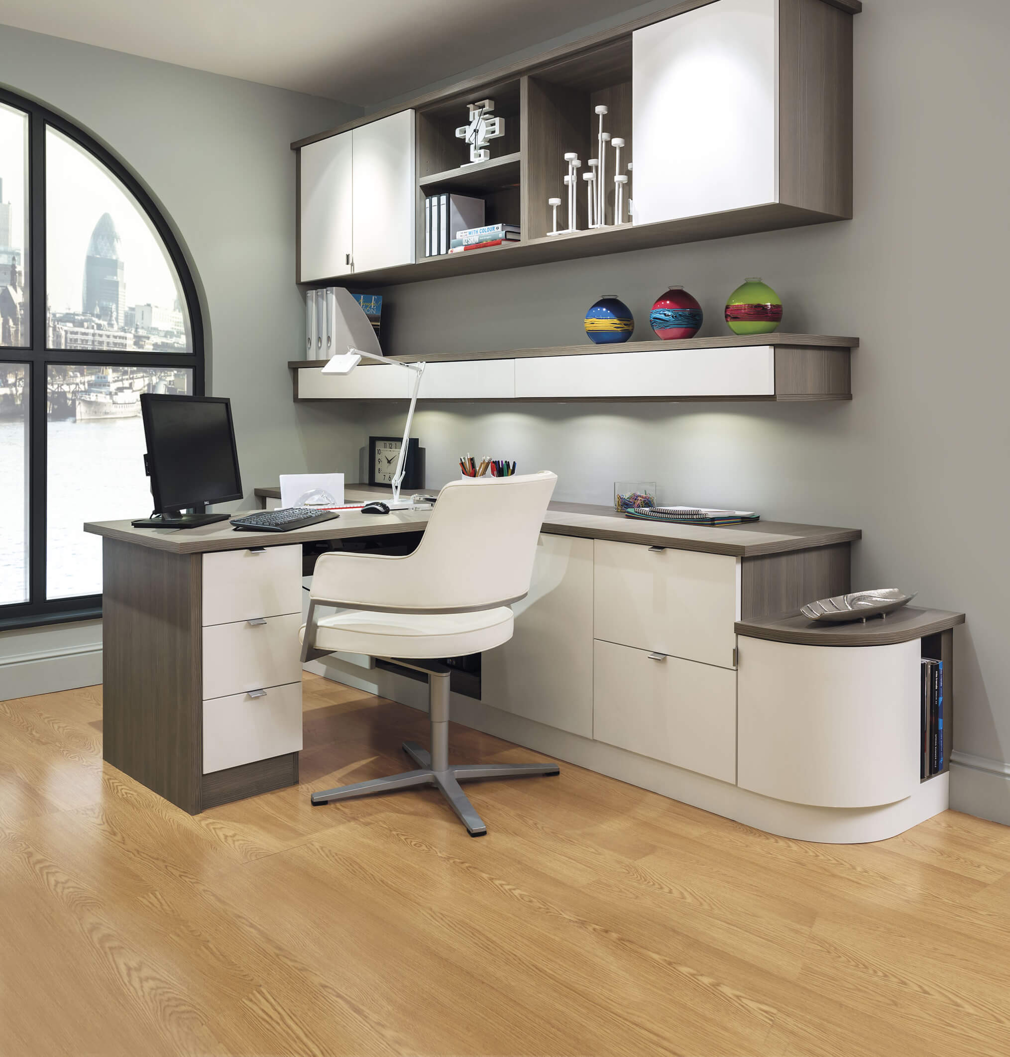 Contemporary Grey Home Office