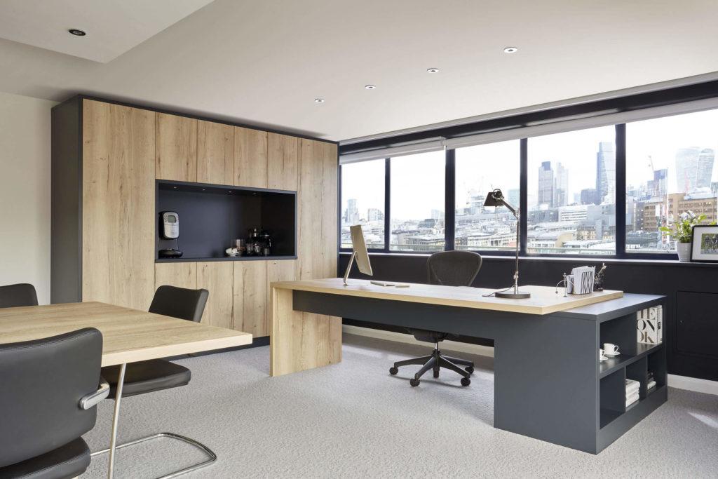 grey modern library study neville johnson. Black Bedroom Furniture Sets. Home Design Ideas
