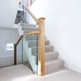 oak glass staircase