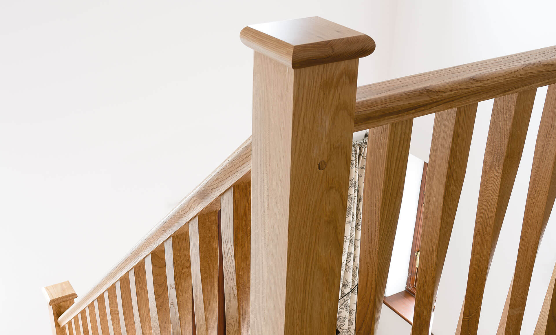 Elegant Twisted Spindle Staircase Neville Johnson