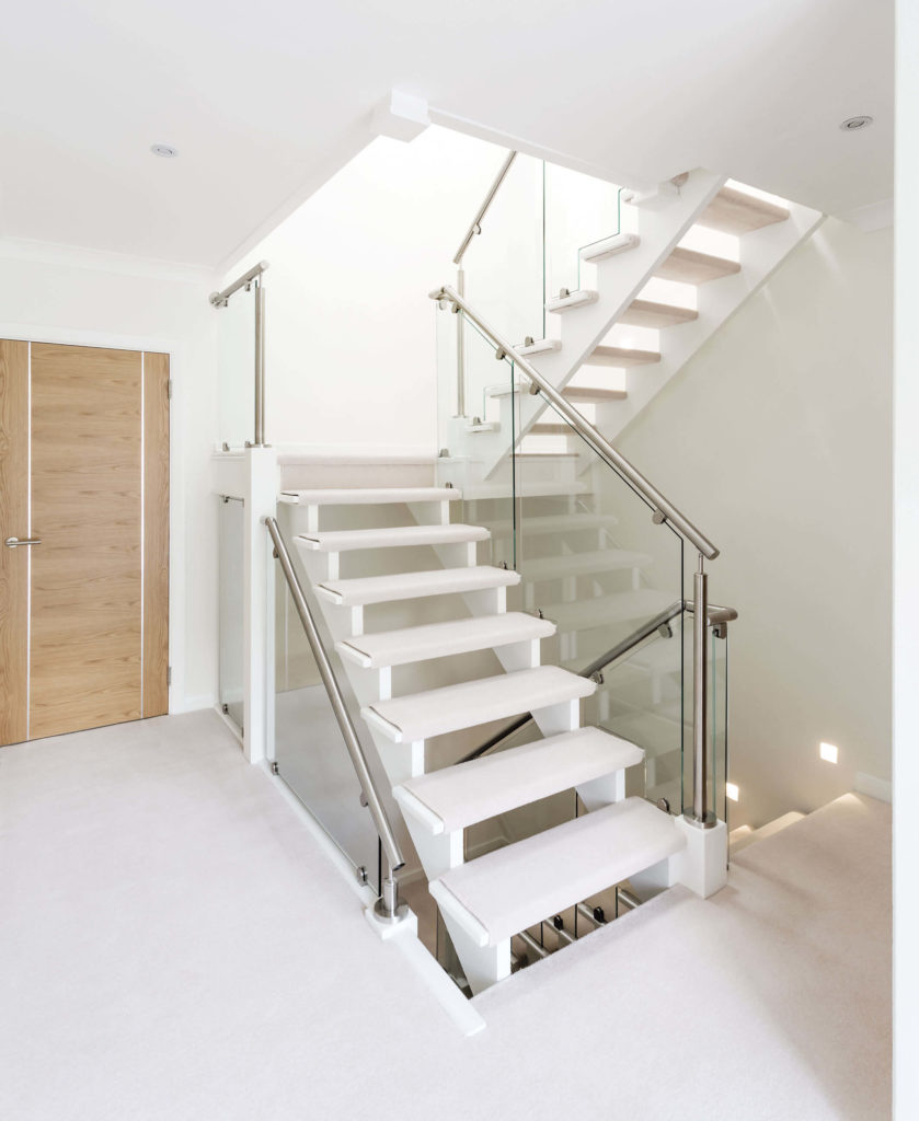 With Crystal Clear Glass Paneling And Tactile Brushed Steel Handrails, This  Staircase Offers Quality In Its Own Distinctive Way.
