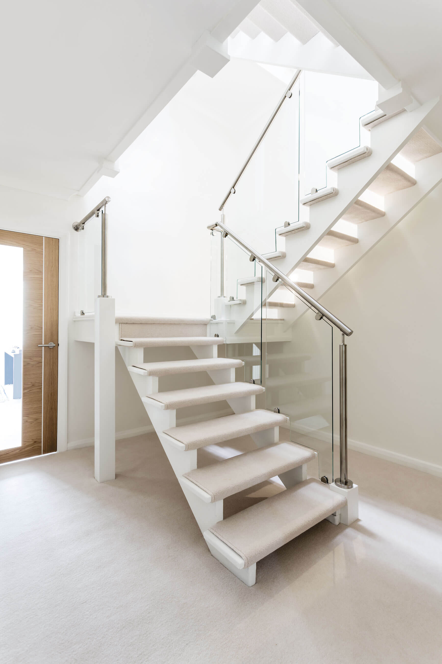 contemporary staircases to brighten your home neville johnson lighting is an essential element in the home to create more ambience when natural light fades integrate spotlighting into your home