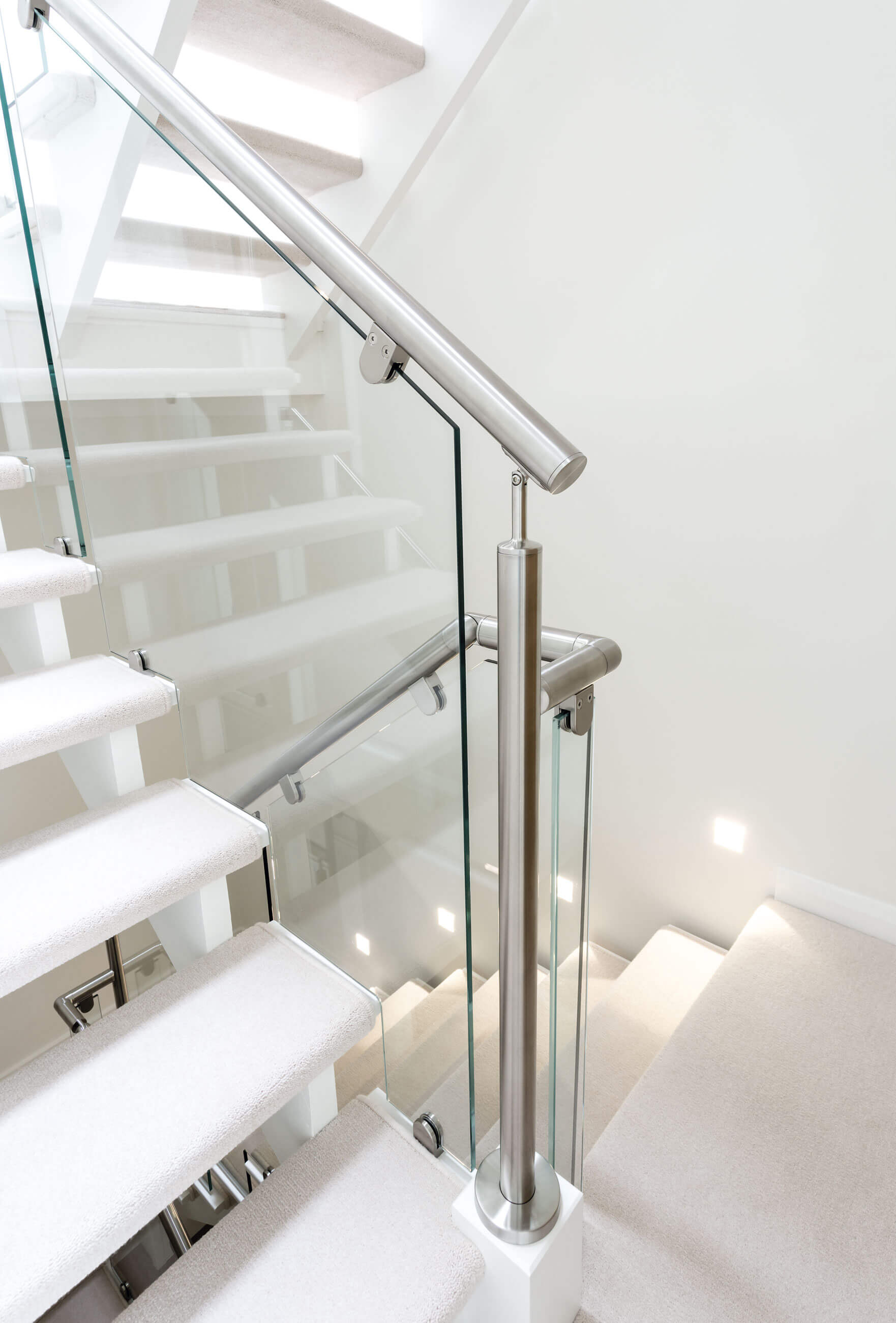Glass and Steel Staircase Neville Johnson