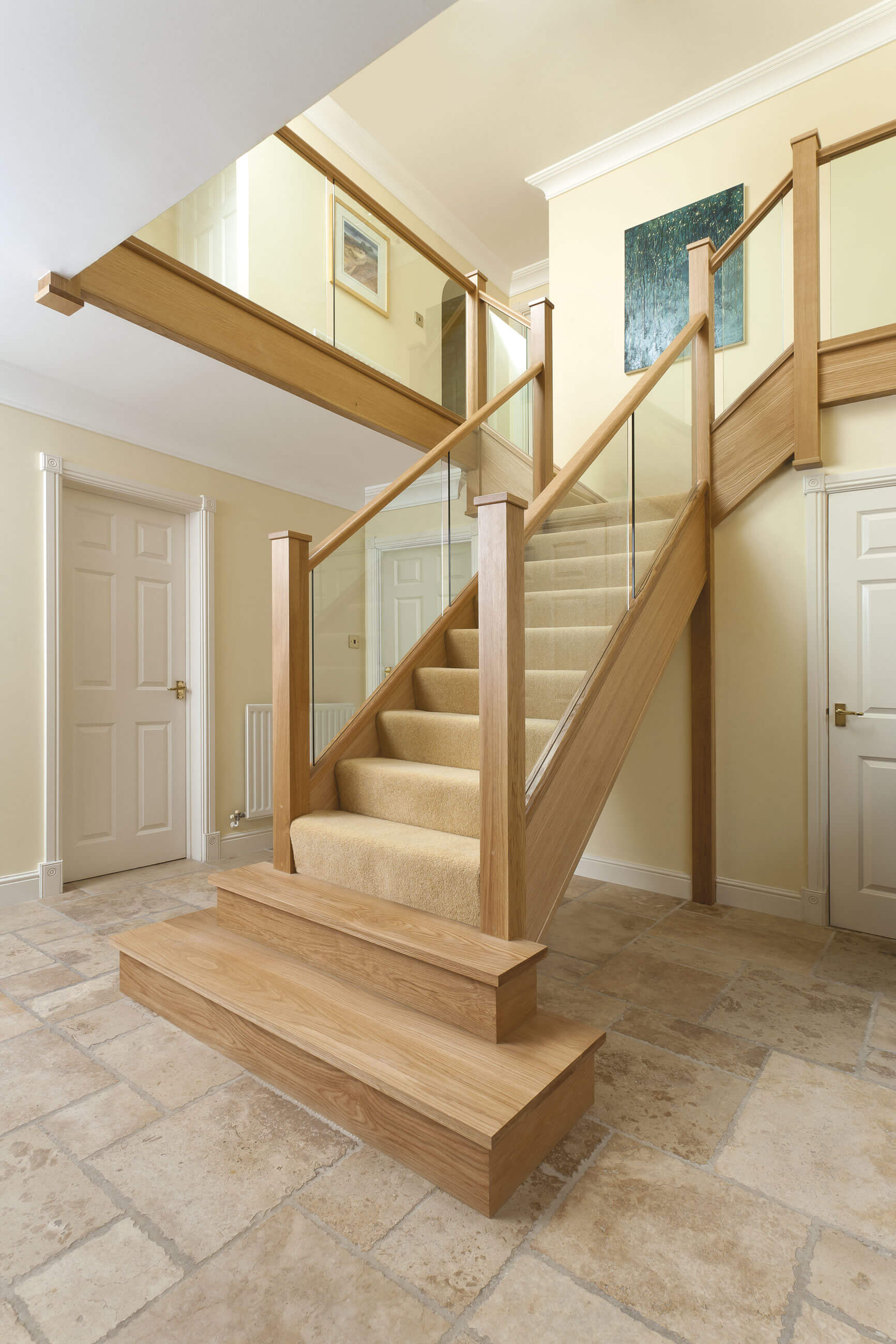 In line glass staircase neville johnson - Neville johnson ...