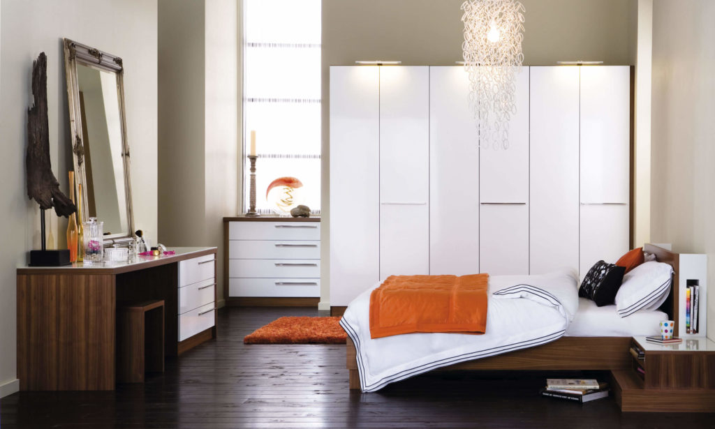 Painted Bedroom fitted wardrobes - fitted bedroom furniture - neville johnson