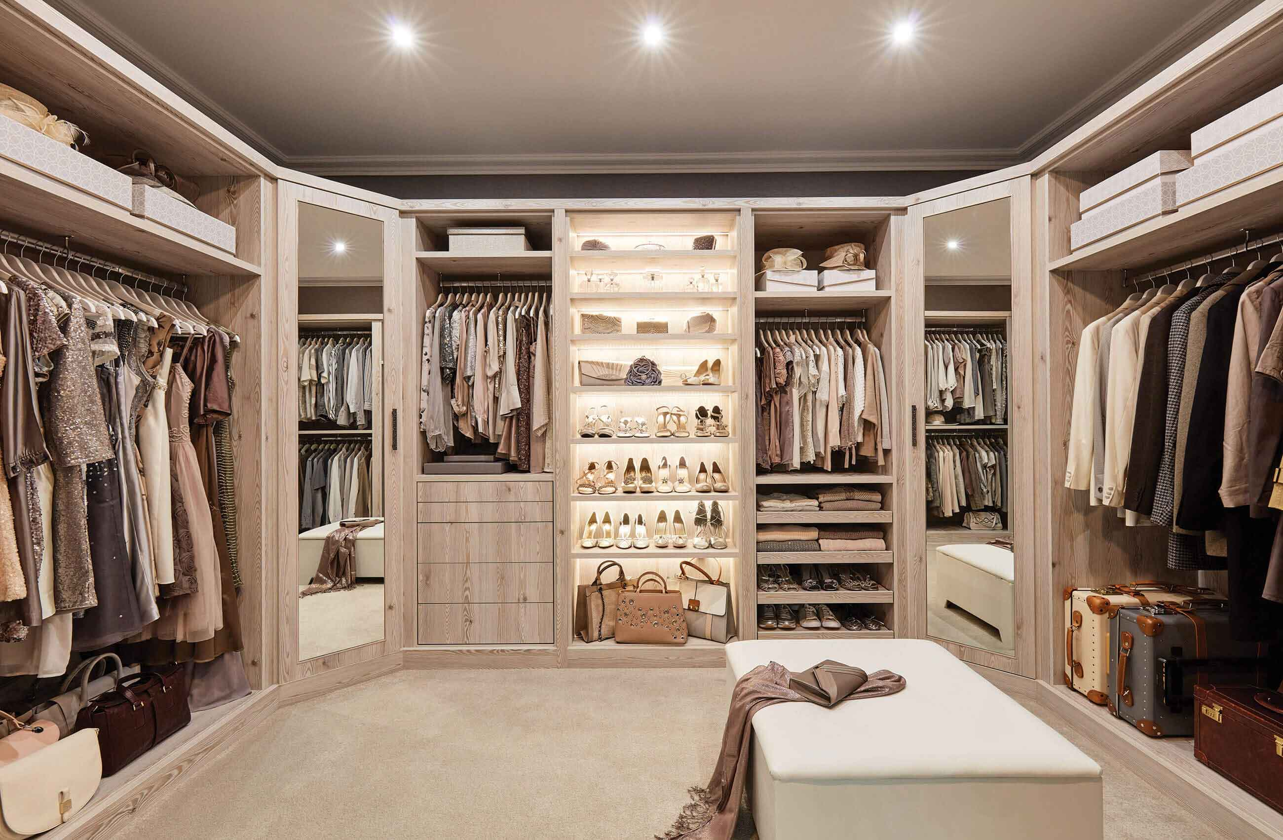 What are fitted wardrobes?