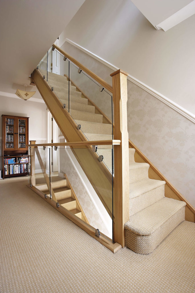 Modern Oak And Glass Staircase Neville Johnson