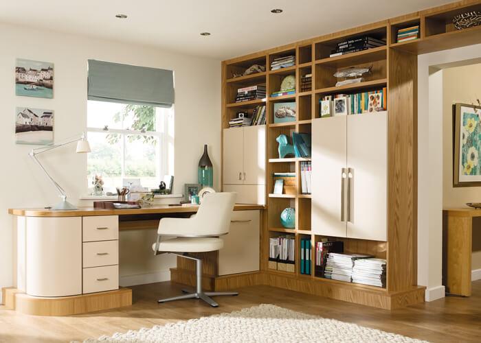 open plan home office neville johnson. Black Bedroom Furniture Sets. Home Design Ideas