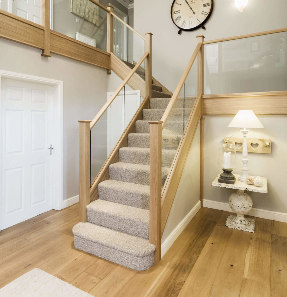 Modern Oak and Glass Staircase - Neville Johnson
