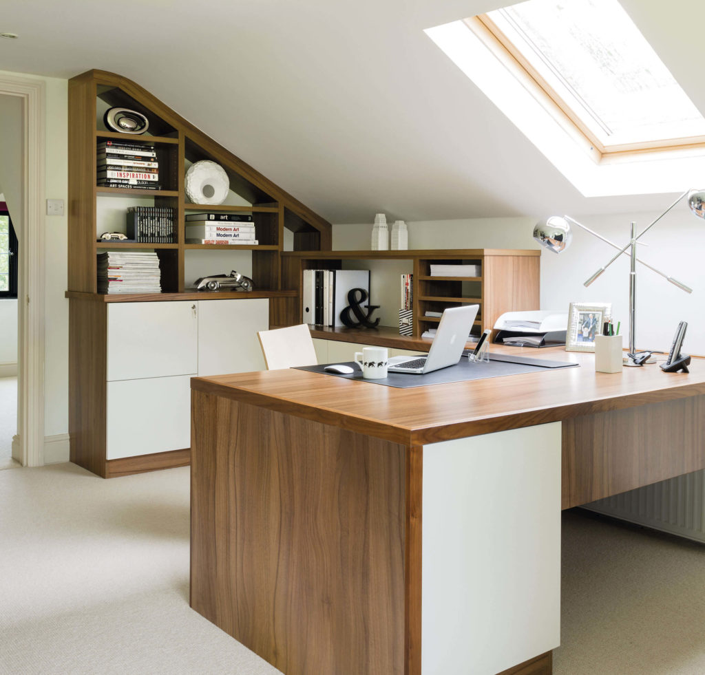 Home Study Furniture. Simple Furniture This Spacious Loft Home Office  Boasts Two Desk Areas And