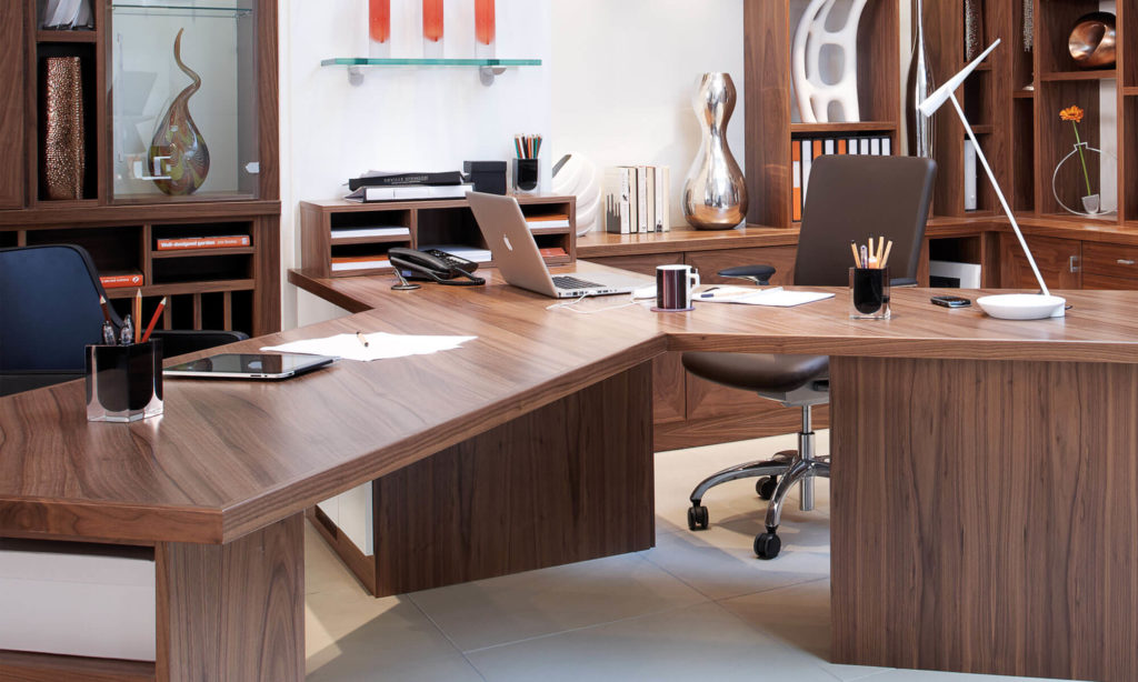 Walnut Office Furniture Neville Johnson