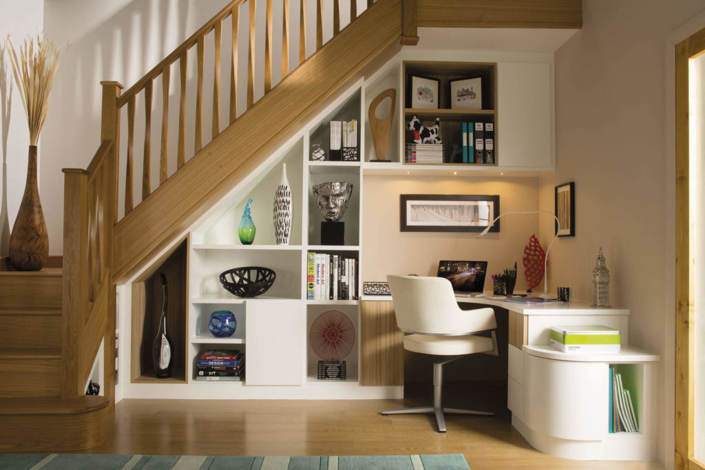 Furniture Design Under Staircase contemporary studies - modern home office - neville johnson