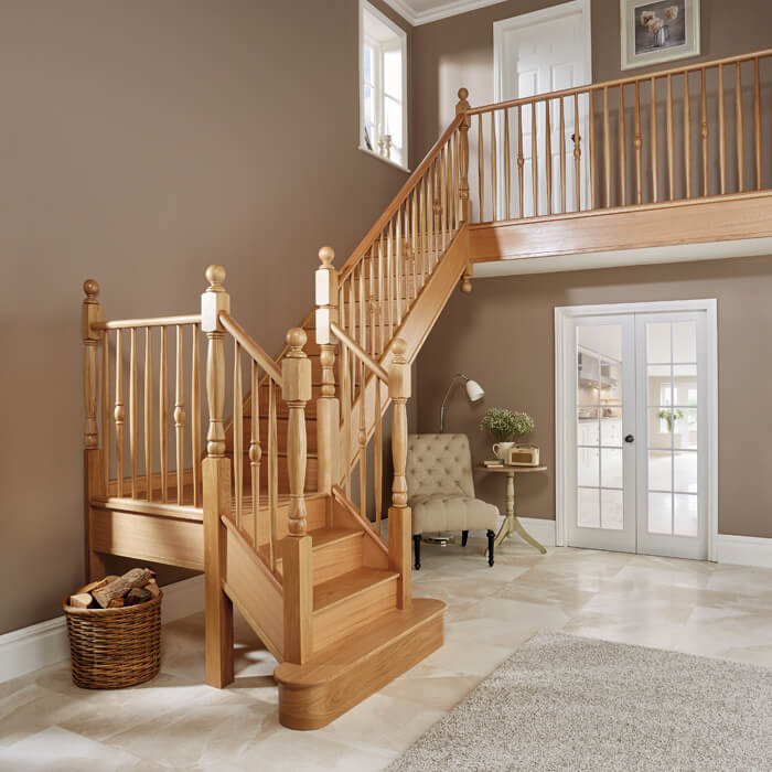 Exceptionnel Expertly Crafted From High Quality Oak Timber, This Bespoke Design Has Been  Built Onto The Existing Staircase Structure.