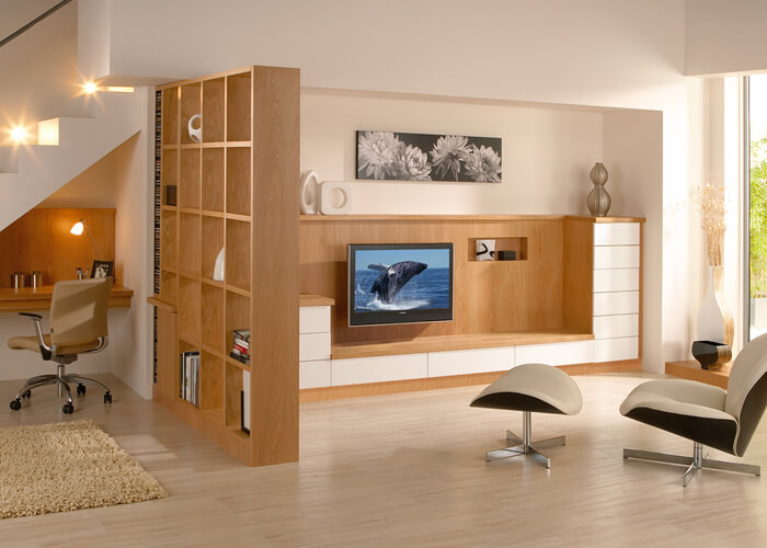 bespoke living room storage